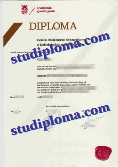 fake University of Groningen diploma
