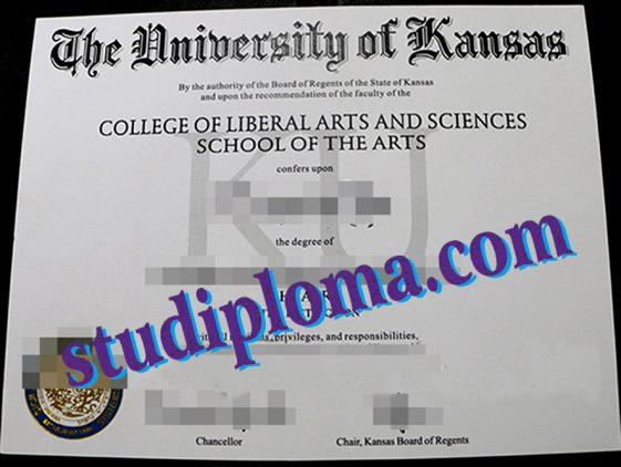 University of Kansas fake degree certificate