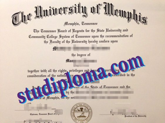 fake University of Memphis diploma