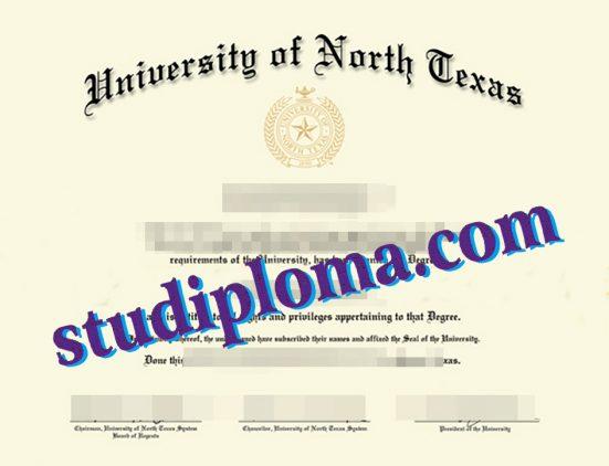 fake UNT degree certificate