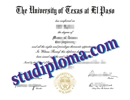 buy UTEP diploma