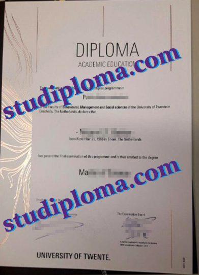 fake University of Twente degree certificate