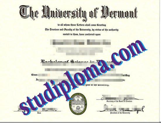 buy University of Vermont diploma