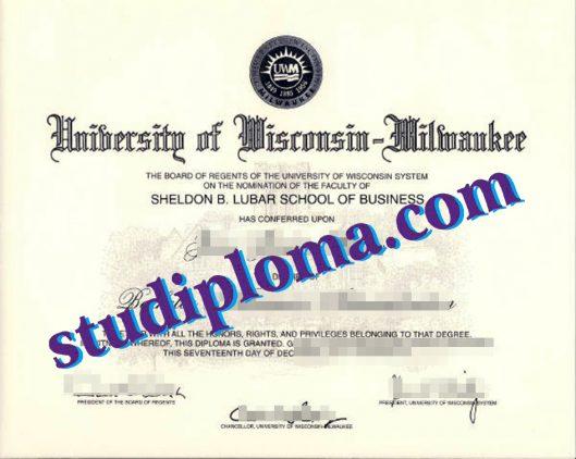 fake University of Wisconsin–Milwaukee diploma