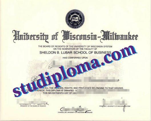 fake University of Wisconsin–Milwaukee diploma