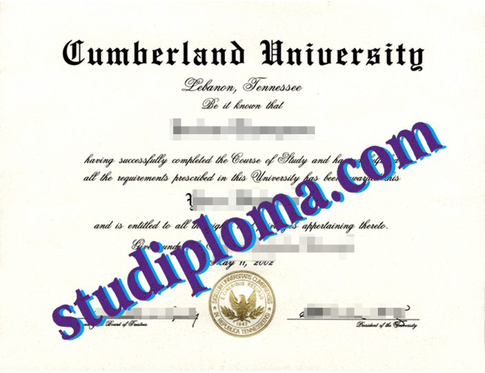University of the Cumberlands diploma