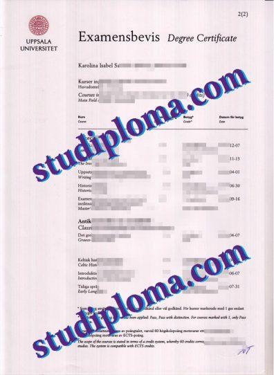 fake Uppsala University diploma