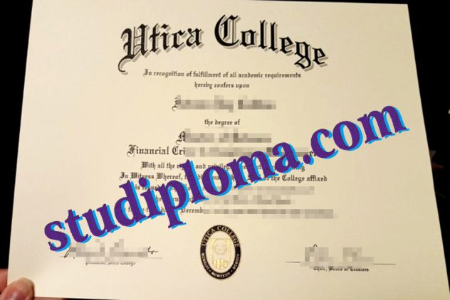 fake Utica College diploma