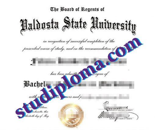 Valdosta State University diploma