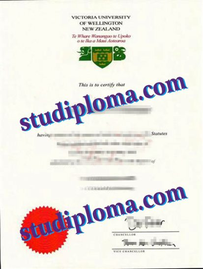 fake Victoria University of Wellington degree certificate