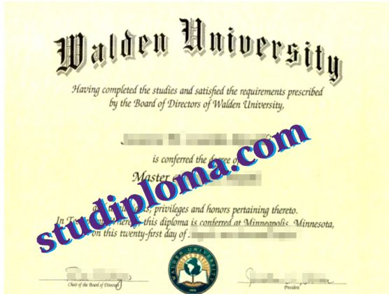fake Walden University degree certificate