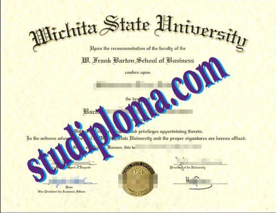 fake Wichita State University degree