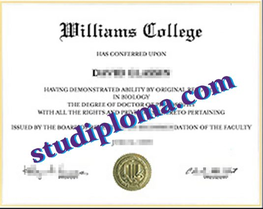 fake Williams College certificate