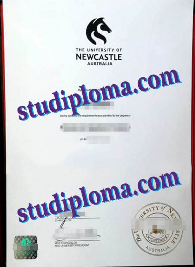fake University of Newcastle, Australia degree