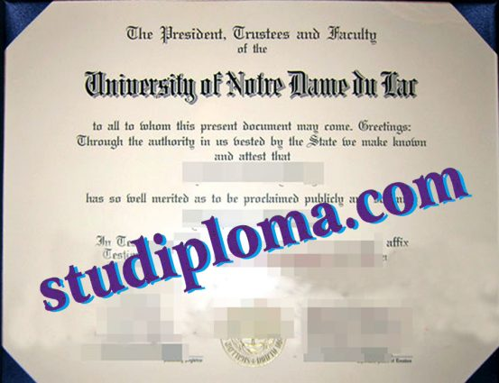 fake University of Notre Dame diploma