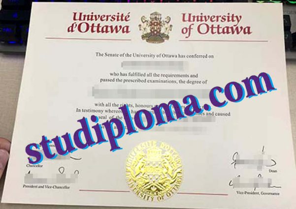 fake University of Ottawa diploma