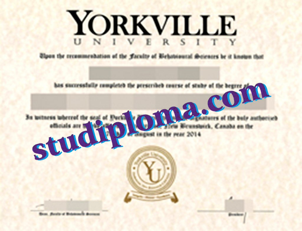 buy Yorkville University diploma