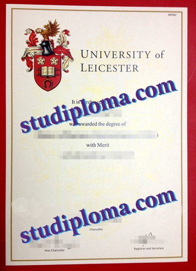 University of Leicester degree certificate