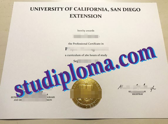 buy UCSD degree certificate