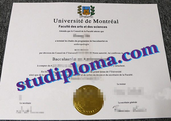 buy Université de Montréal degree