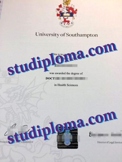 University of Southampton degree