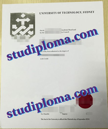 fake University of Technology Sydney degree certificate