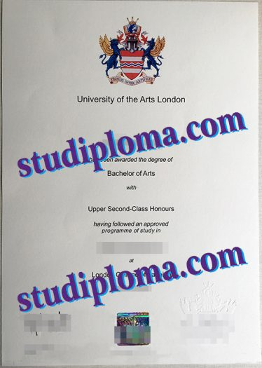 fake University of the Arts London degree certificate