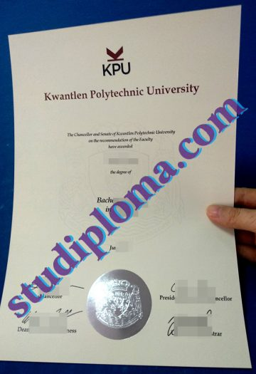 fake Kwantlen Polytechnic University degree certificate