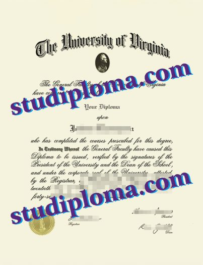 fake University of Virginia diploma