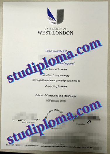 University of West London diploma