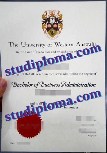 fake University of Western Australia degree certificate