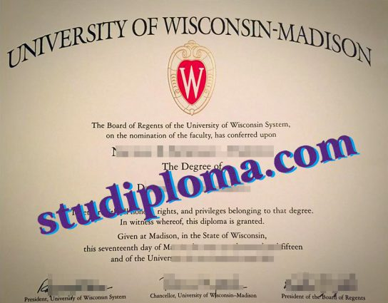 fake University of Wisconsin–Madison diploma