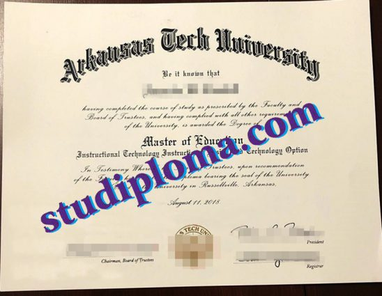 Arkansas Tech University diploma