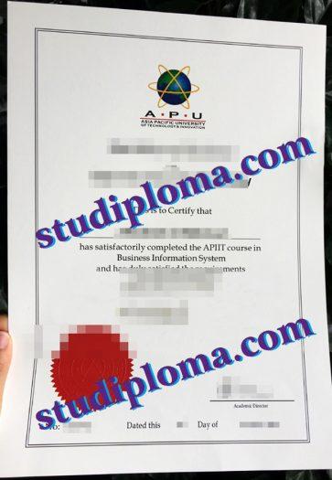 buy APU certificate