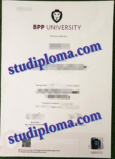 buy BPP University degree certificate