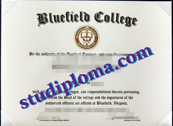 Bluefield College certificate