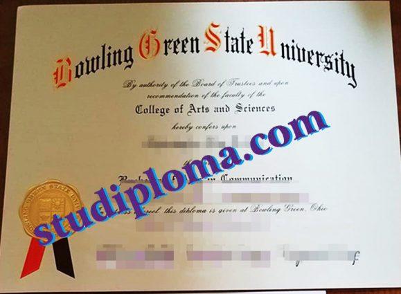 buy Bowling Green State University degree certificate