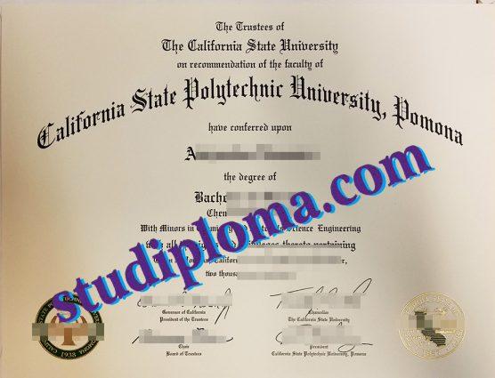 buy California State Polytechnic University Pomona degree