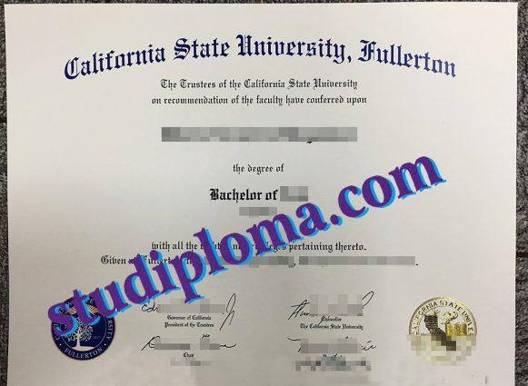 buy California State University Fullerton diploma